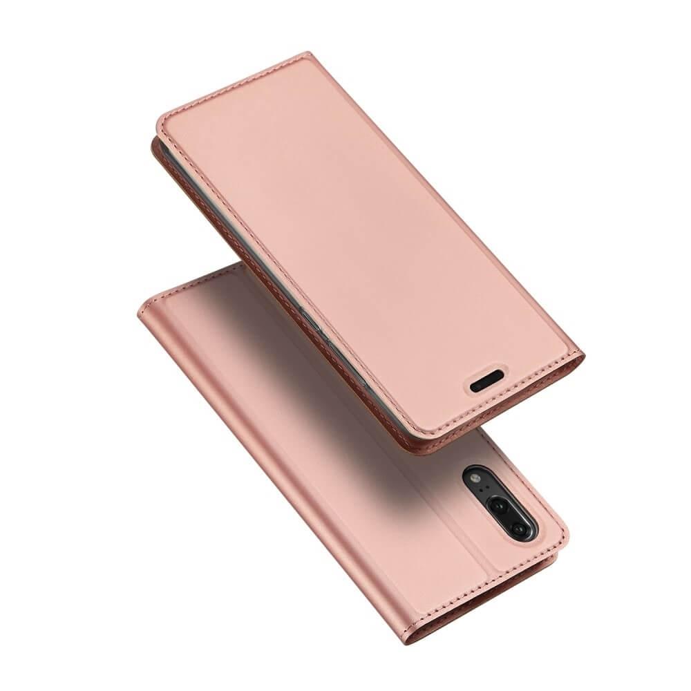 DUX Peňaženkové pouzdro Huawei P20 růžové