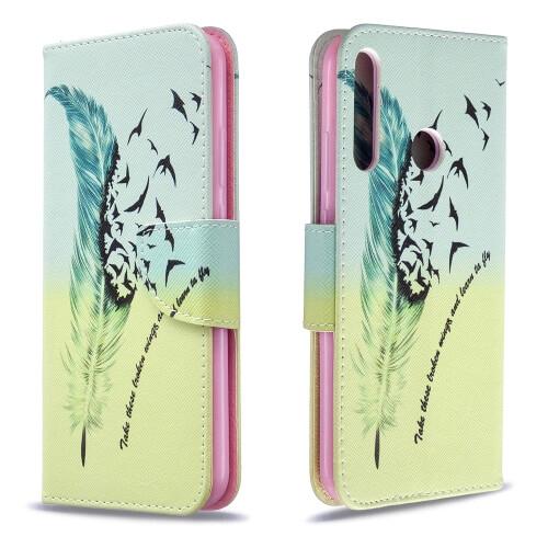 FORCELL ART Peňaženkový kryt Huawei P40 Lite E FEATHER
