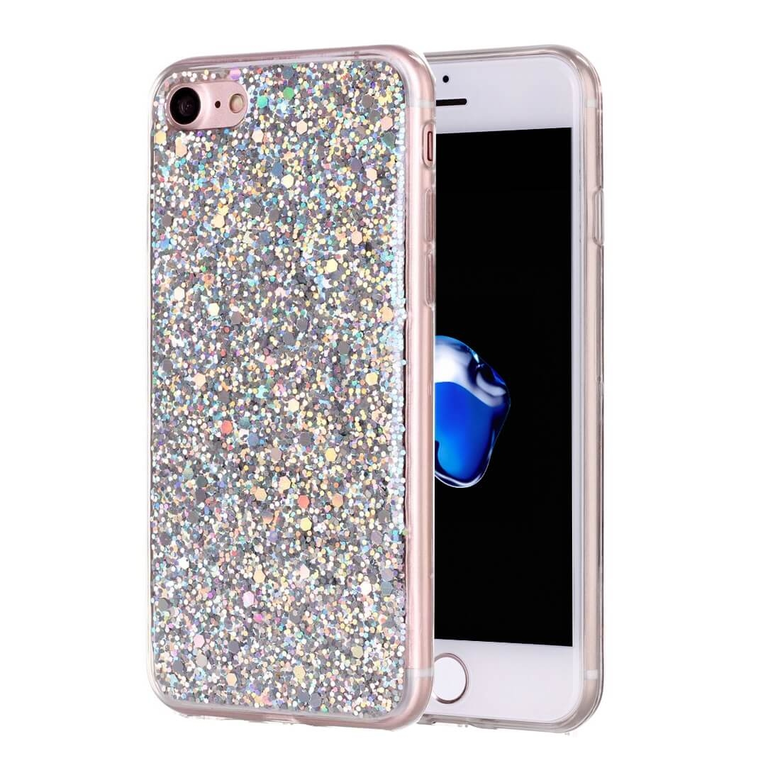 FORCELL LIQUID TPU obal Apple iPhone 7 / iPhone 8 stříbrný
