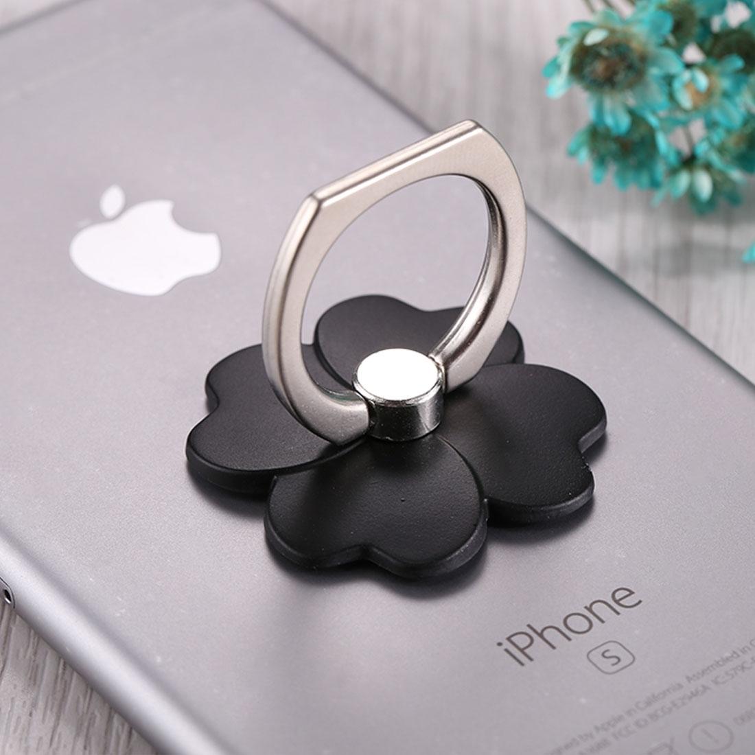 FLOWER Kovový držák / stojan na telefon černý