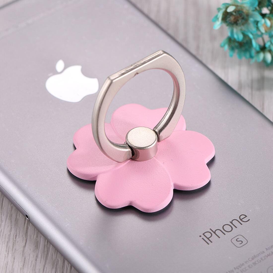 FLOWER Kovový držák / stojan na telefon růžový
