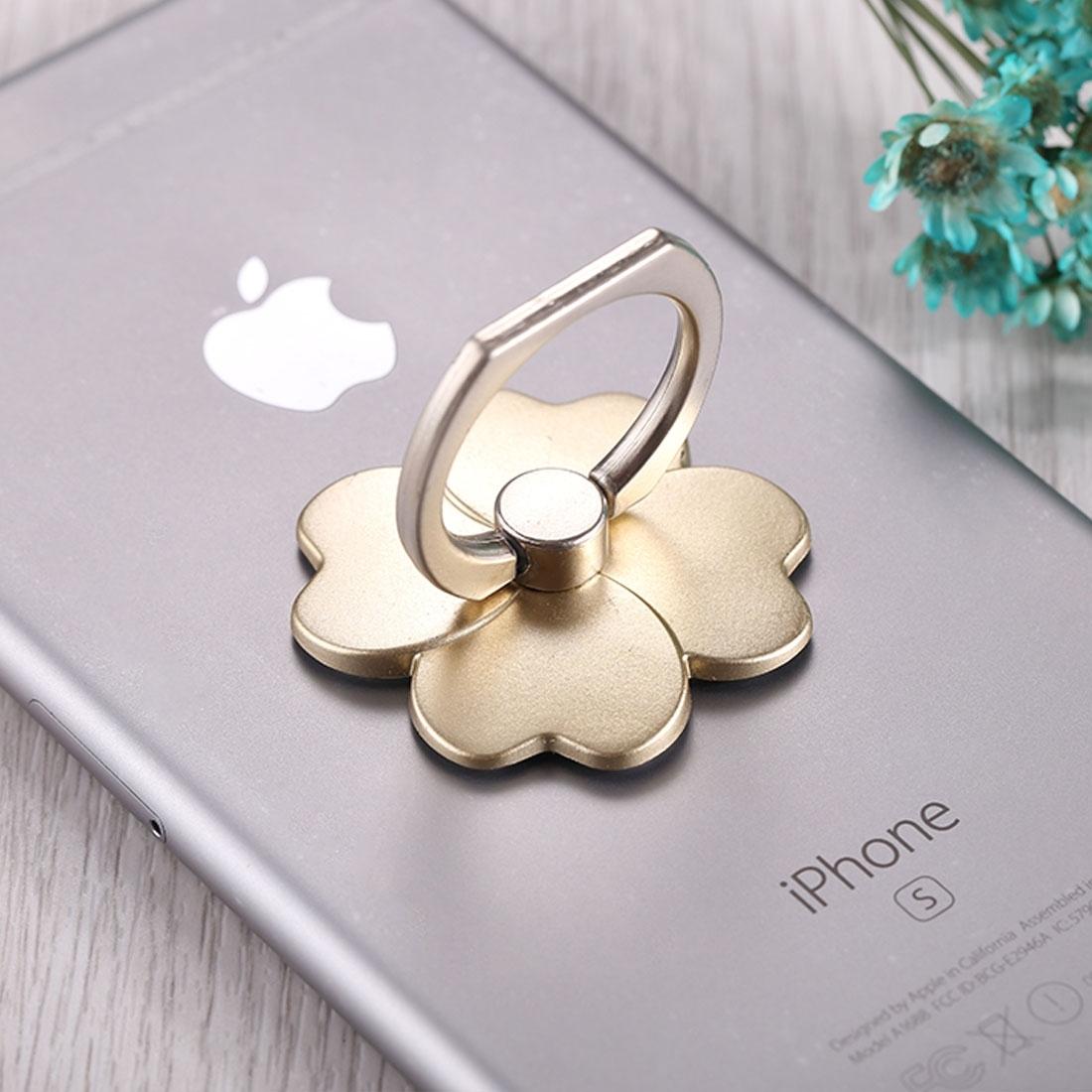FLOWER Kovový držák / stojan na telefon zlatý