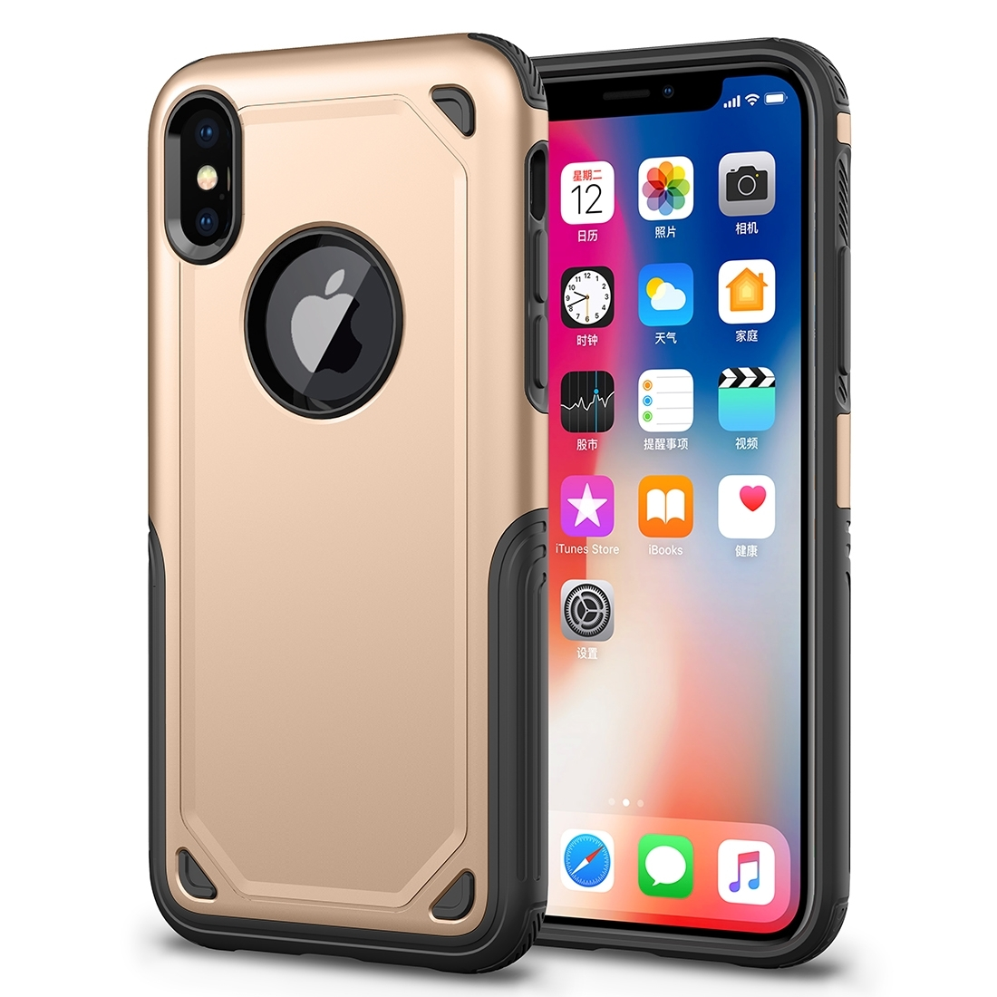 FORCELL SHOCKPROOF Ochranný kryt Apple iPhone XS Max zlatý c889d8d7cc2