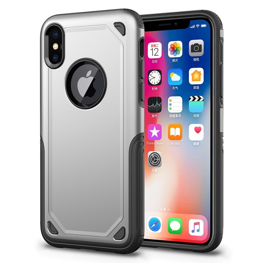 FORCELL SHOCKPROOF Ochranný kryt Apple iPhone XS Max stříbrný