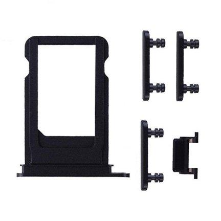 UNBRANDED SIM Slot + boční tlačítka - Apple iPhone 7 Plus - černá