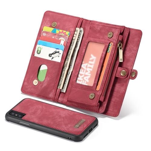 FORCELL WALLET Obal s peněženkou 2v1 pro Apple iPhone XS Max červený