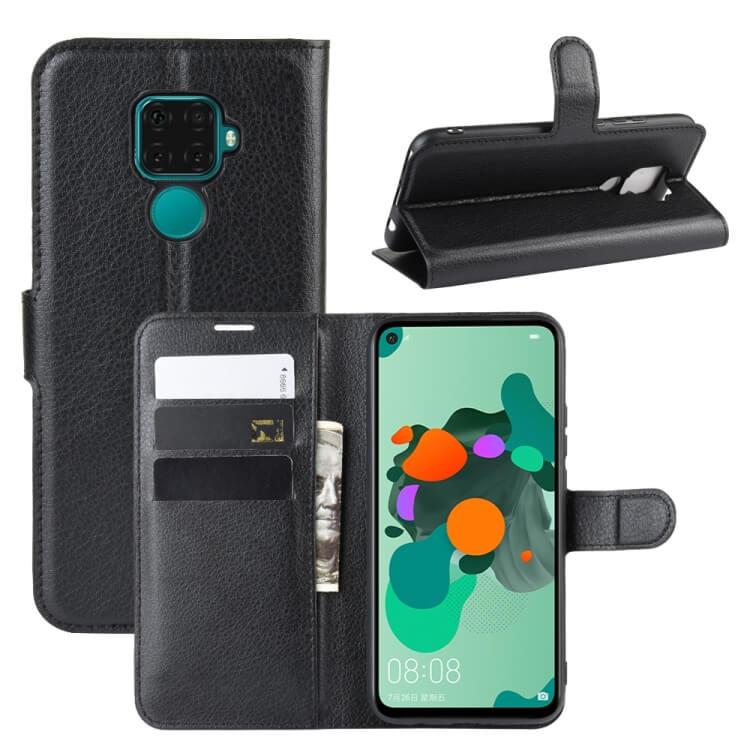 FORCELL LITCHI Peňaženkové puzdro Huawei Mate 30 Lite čierne