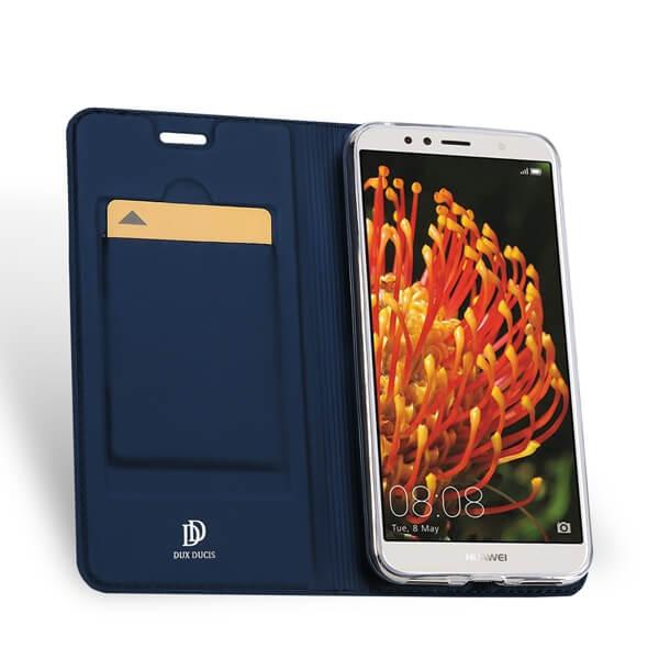 DUX Peňaženkový obal Huawei Y6 2018 modrý