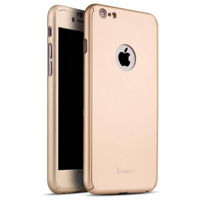 IPAKY 360 ° Ochranný obal + tvrzené sklo Apple iPhone 6 / 6S zlatý