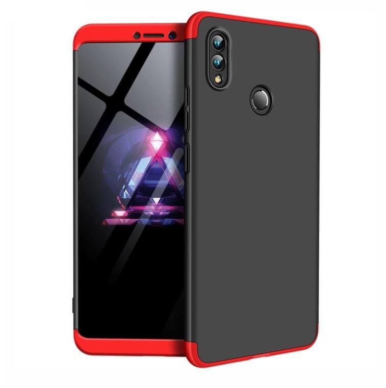 FORCELL 360 ° Ochranný obal Huawei Nova 3 černý (červený)