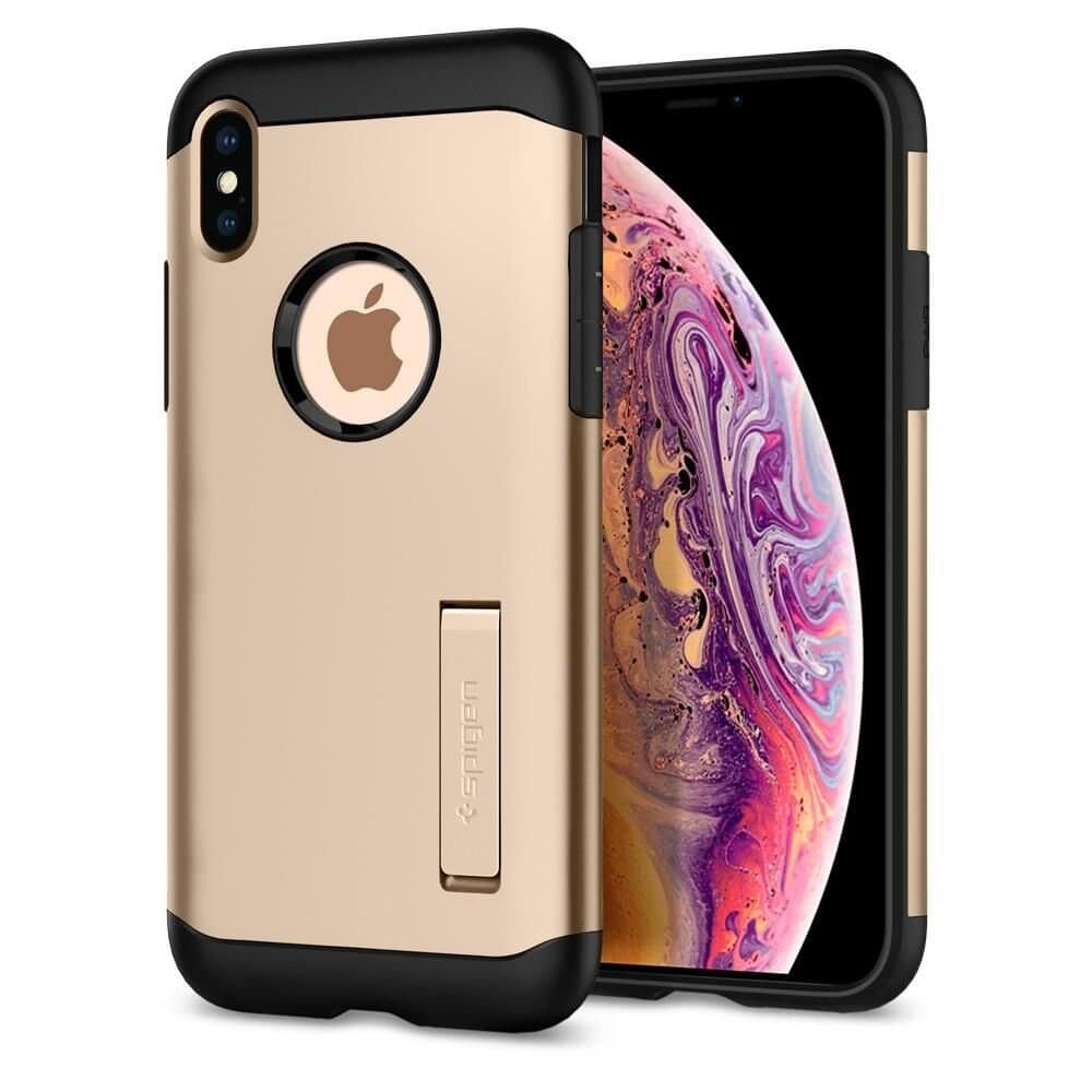 SPIGEN SLIM ARMOR Apple iPhone XS Max zlatý (Champagne gold)