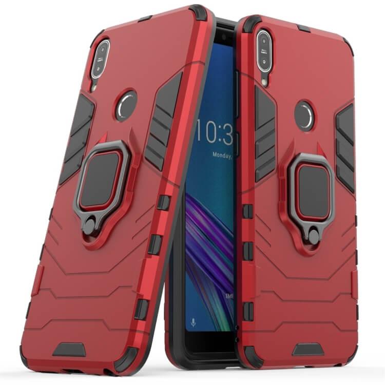 FORCELL STRONG Ochranný obal Asus ZenFone Max Pro (M1) ZB601KL / ZB602KL červený