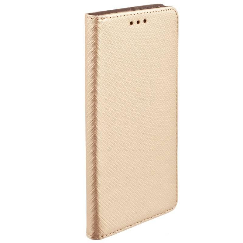 FORCELL MAGNET Peňaženkový obal HTC U Play zlatý
