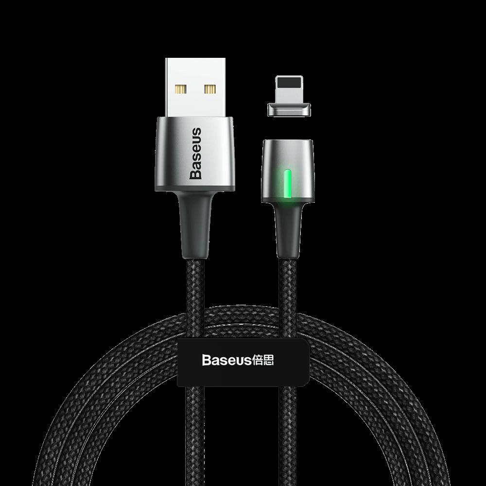 REMAX BASEUS ZINC Magnetický kabel Lightning 1m černý