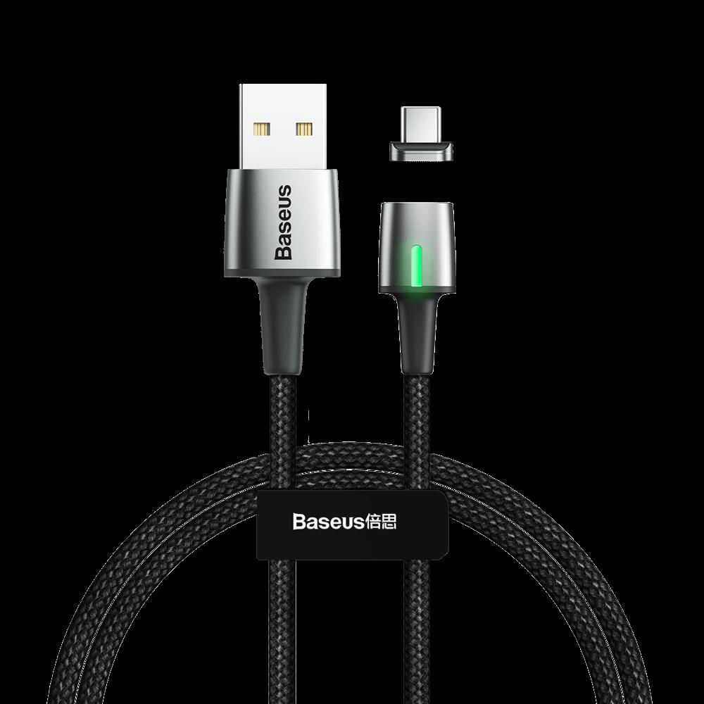 REMAX BASEUS ZINC Magnetický kabel USB Type-C 1m černý