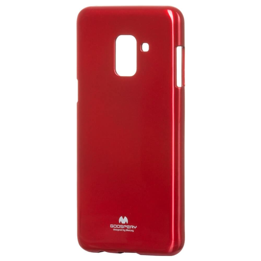 MERCURY JELLY TPU Samsung Galaxy A8 2018 (A530) červený