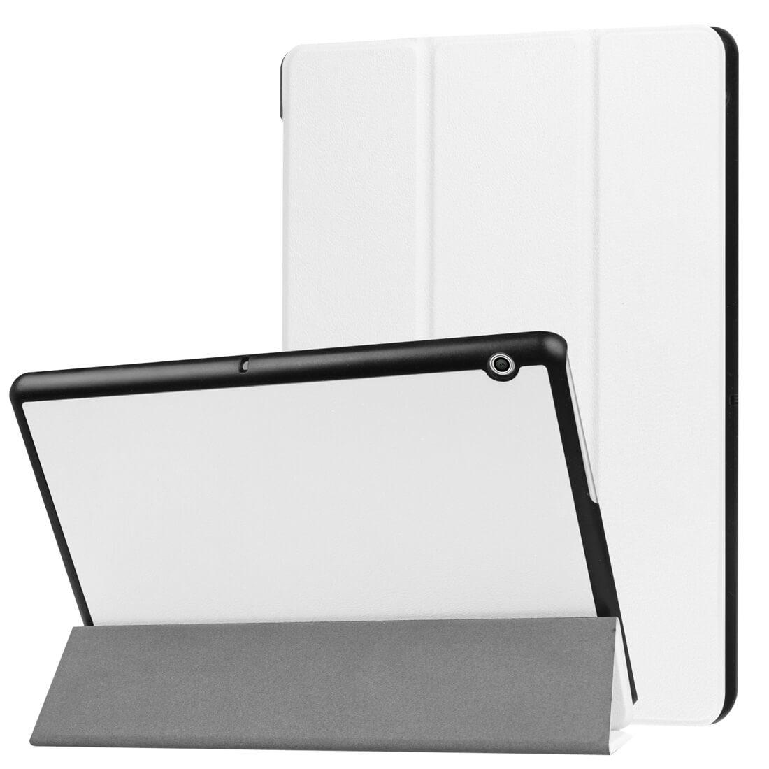 """FORCELL LEATHER zaklapovací obal Huawei MediaPad T3 10 """"bílý"""