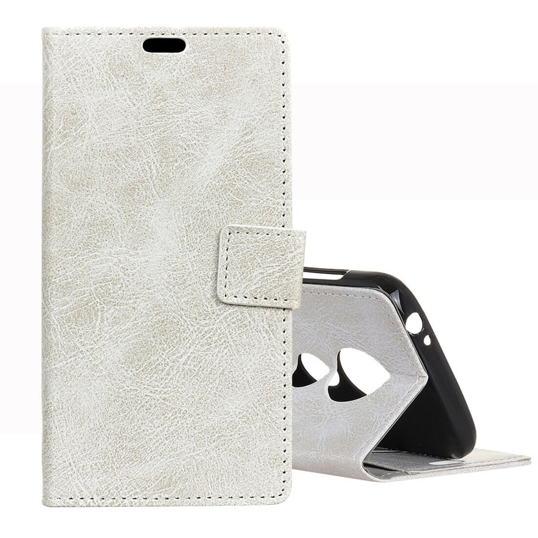 FORCELL RETRO Peňaženkový obal Motorola Moto G7 Play bílý