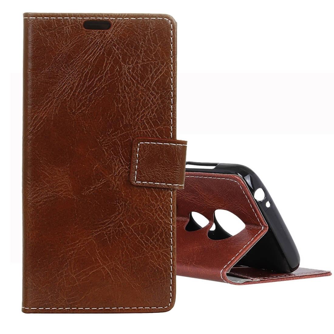 FORCELL RETRO Peňaženkový obal Motorola Moto G7 Play hnědý