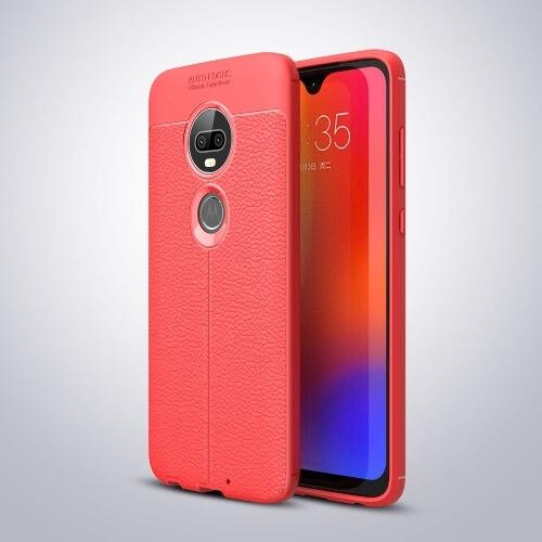 FORCELL PATTERN TPU kryt Motorola Moto G7 červený