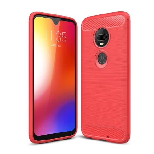 FORCELL FLEXI TPU Motorola Moto G7 červený