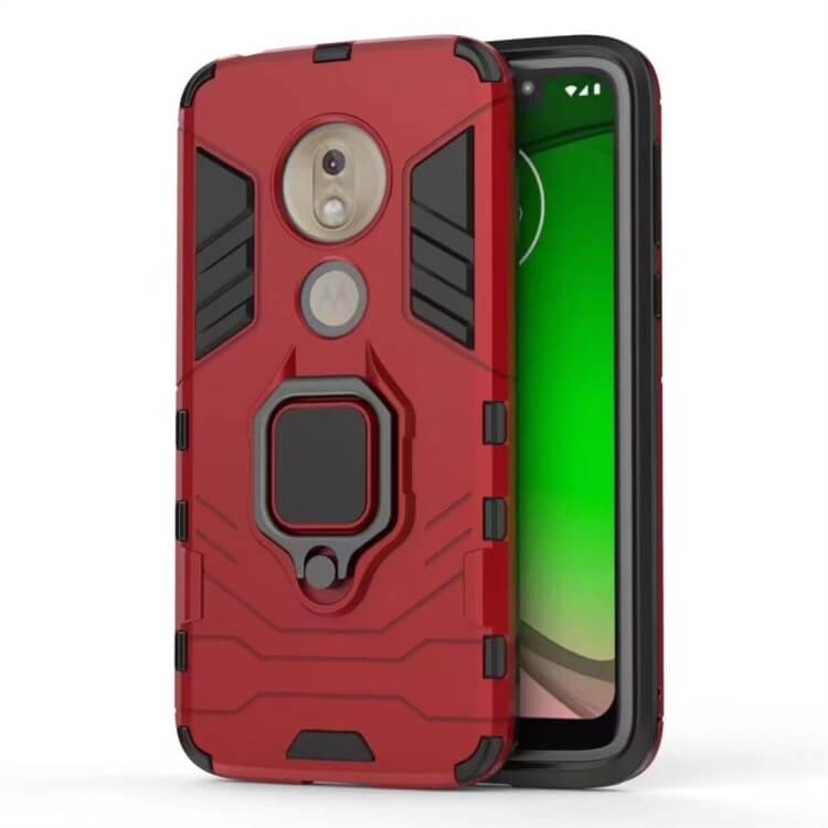 FORCELL STRONG Ochranný obal Motorola Moto G7 Play červený