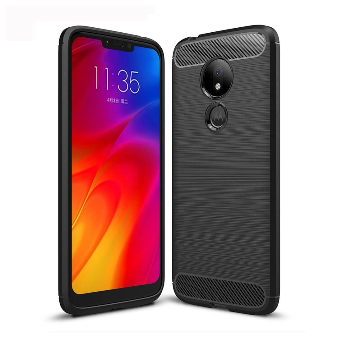 FORCELL FLEXI TPU Kryt Motorola Moto G7 Power černý