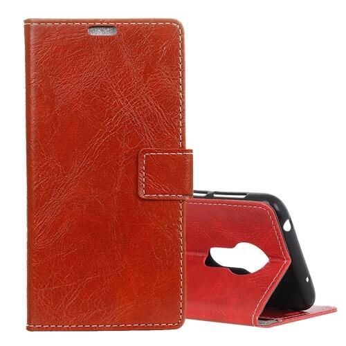 FORCELL RETRO Peňaženkový obal Motorola Moto G7 Power červený