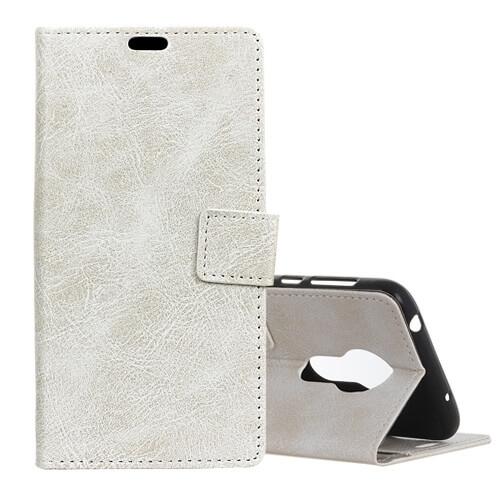 FORCELL RETRO Peňaženkový obal Motorola Moto G7 Power bílý