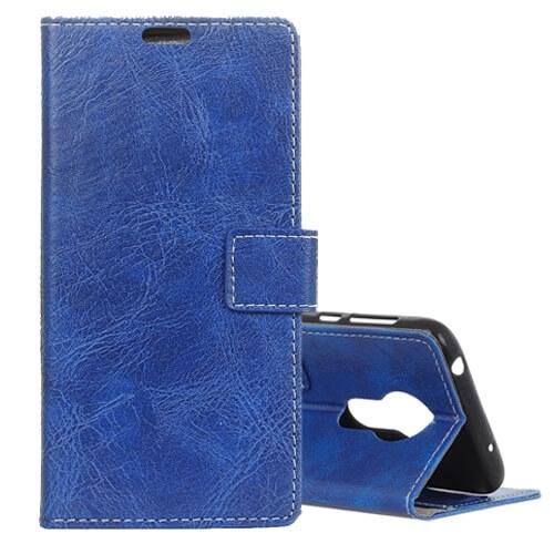 FORCELL RETRO Peňaženkový obal Motorola Moto G7 Power modrý
