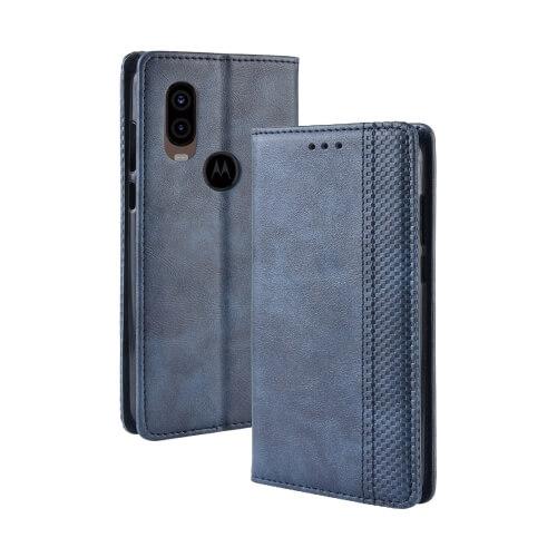 FORCELL BUSINESS Peňaženkový obal Motorola One Vision modrý