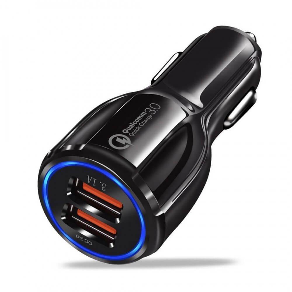 REMAX Nabíječka do auta 2X USB Quick Charge 3.0 černá
