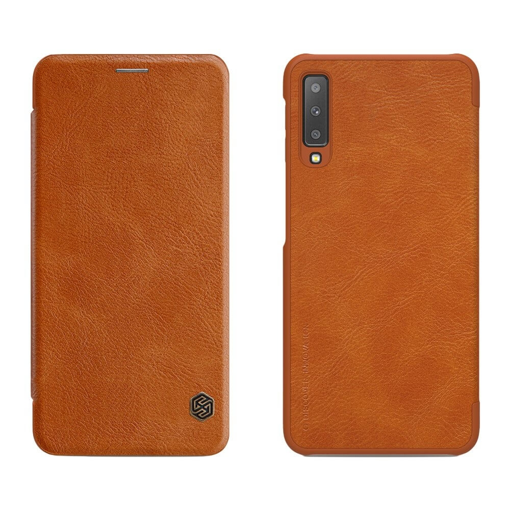 NILLKIN QIN LEATHER Samsung Galaxy A7 2018 (A750) hnědý