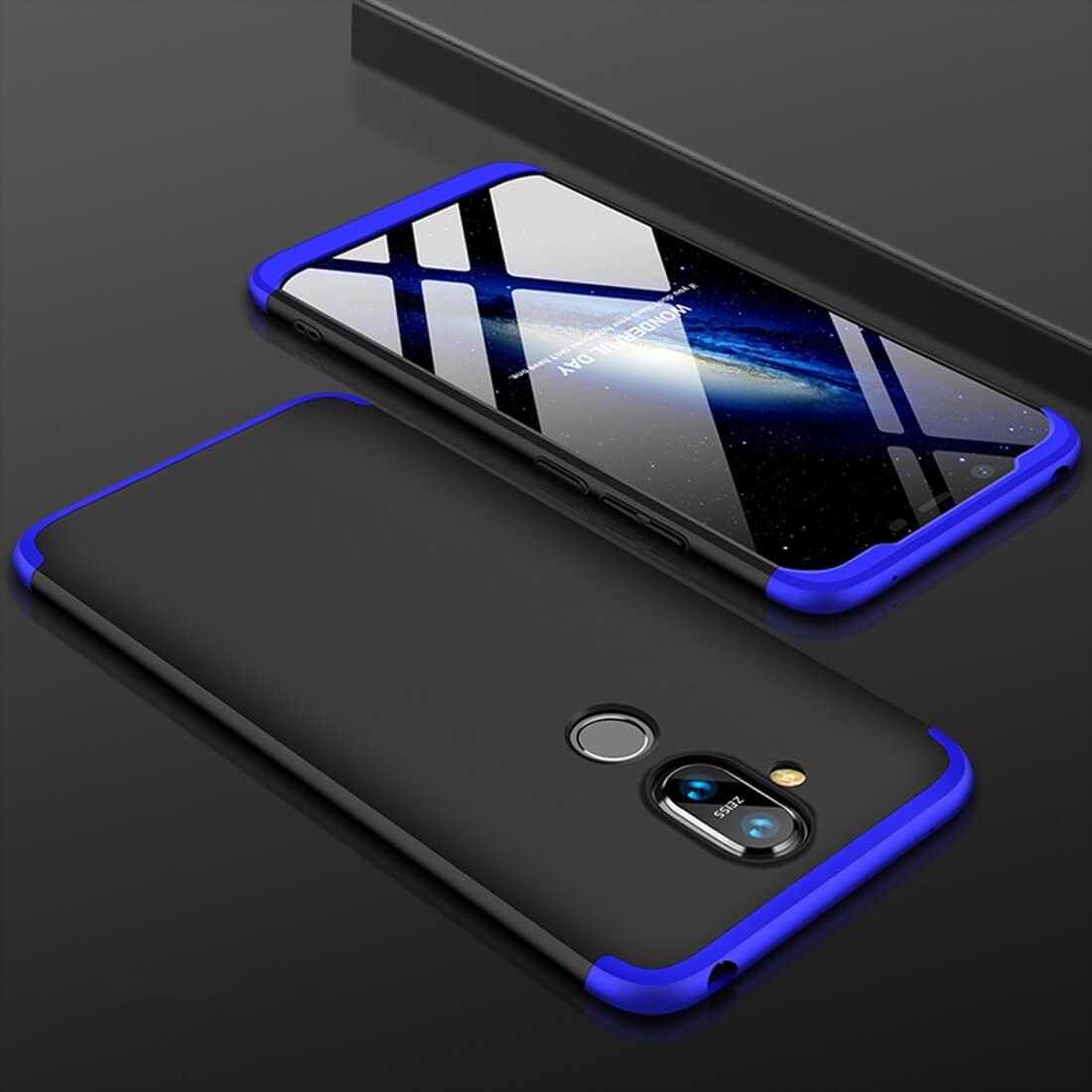 FORCELL 360 ° ochranný kryt Nokia 8.1 černý (modrý)