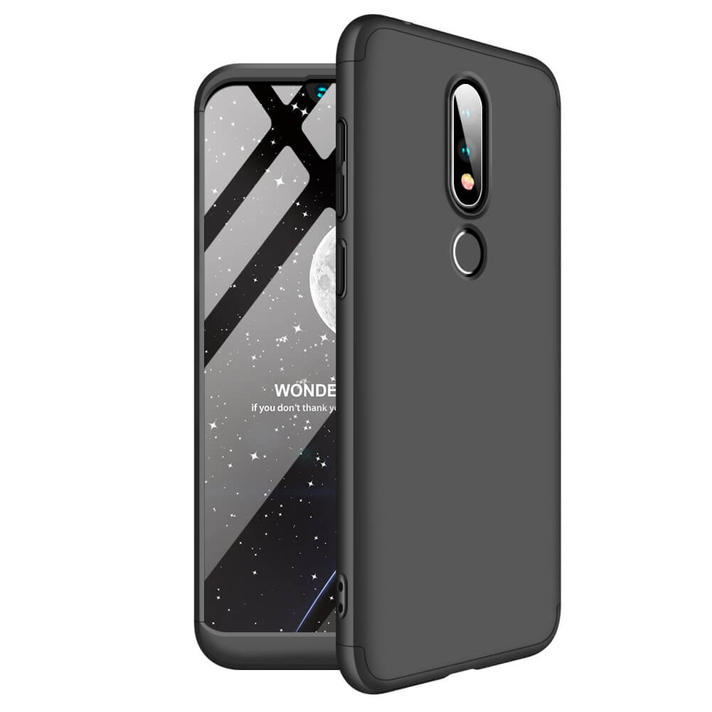 FORCELL 360 ° ochranný kryt Nokia 6.1 Plus (Nokia X6) černý