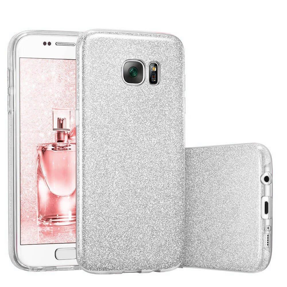 FORCELL SHINING Ochraný obal Samsung Galaxy S7 stříbrný
