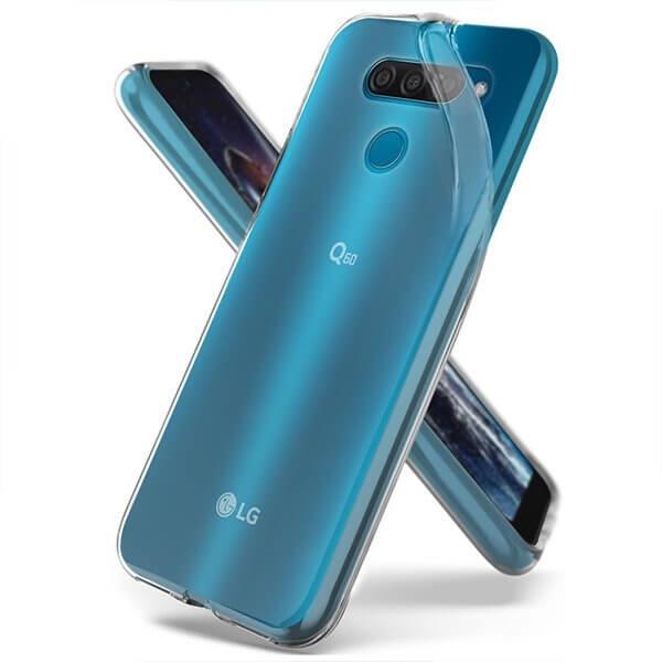 FORCELL Silikonový obal LG Q60 / LG K50 průhledný