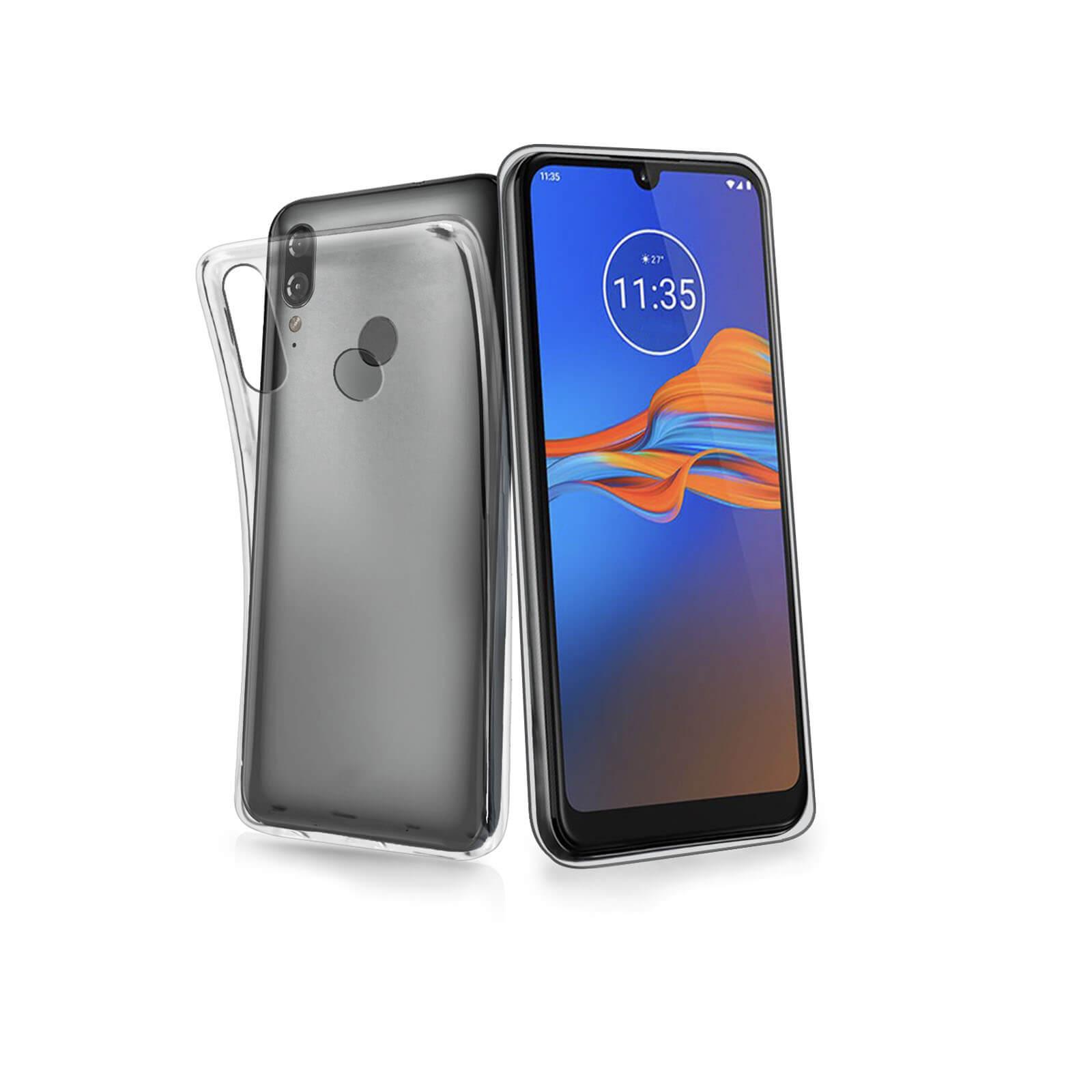 FORCELL Silikonový obal Motorola Moto E6 Plus průhledný
