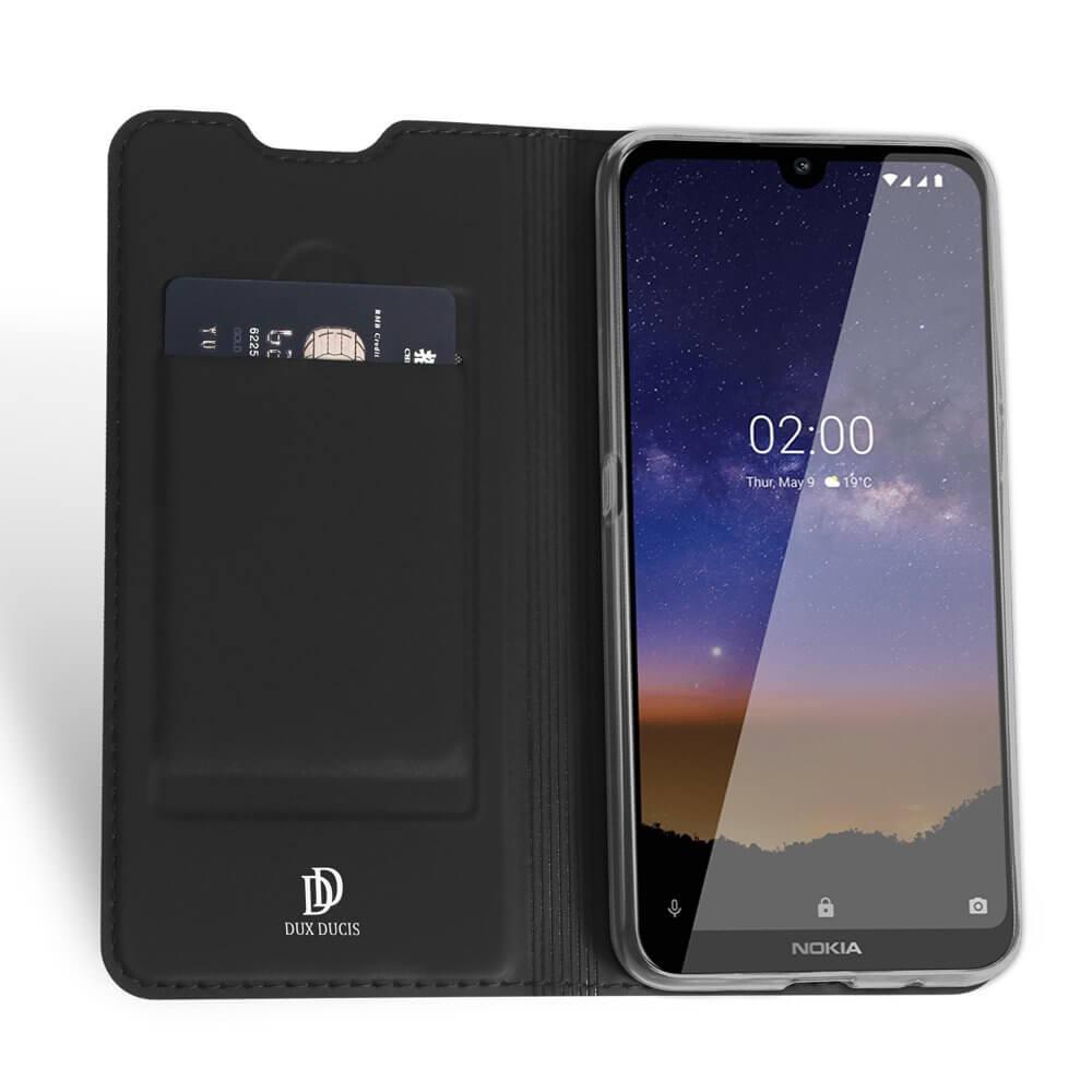 DUX Peňaženkový obal Nokia 2.2 černý