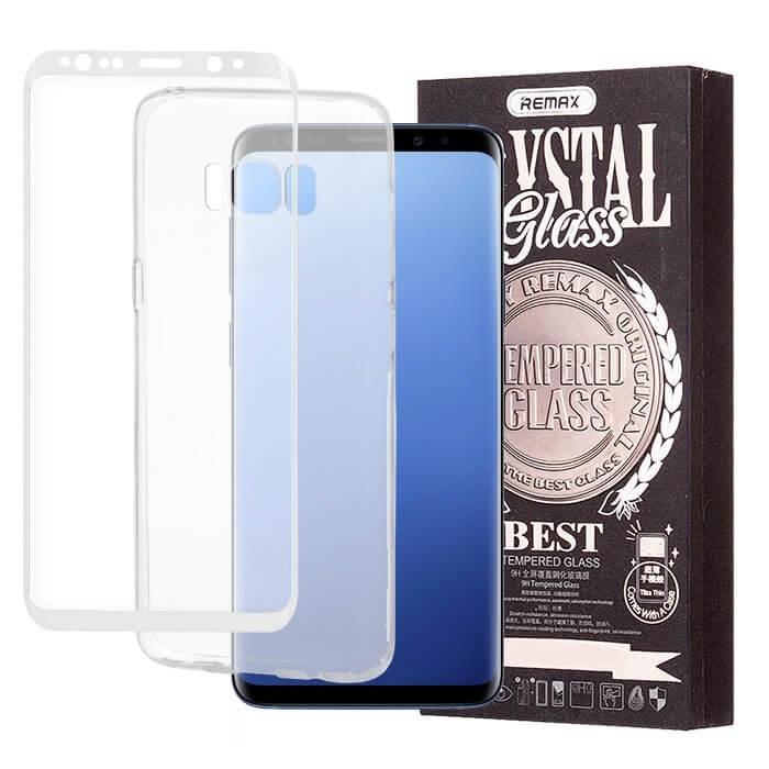 REMAX Průhledný obal + 3D ochranné sklo Samsung Galaxy S8 Plus bílé