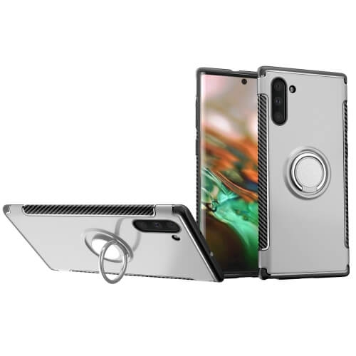 FORCELL HOLD Ochranný kryt Samsung Galaxy Note 10 stříbrný