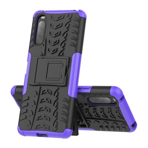 FORCELL STAND Extra odolný obal Sony Xperia 10 II fialový