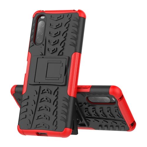 FORCELL STAND Extra odolný obal Sony Xperia 10 II červený