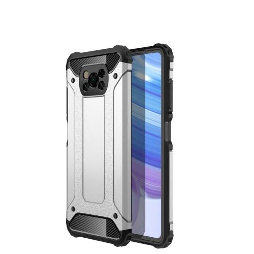 FORCELL TOUGH Ochranný kryt Xiaomi Poco X3 NFC stříbrný