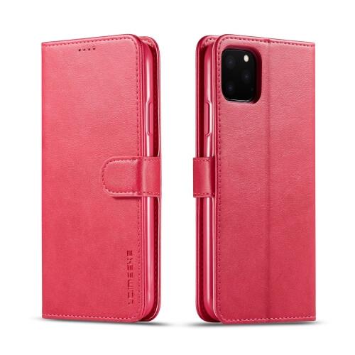 Levně IMEEKE Peňaženkový obal Apple iPhone 11 Pro růžový