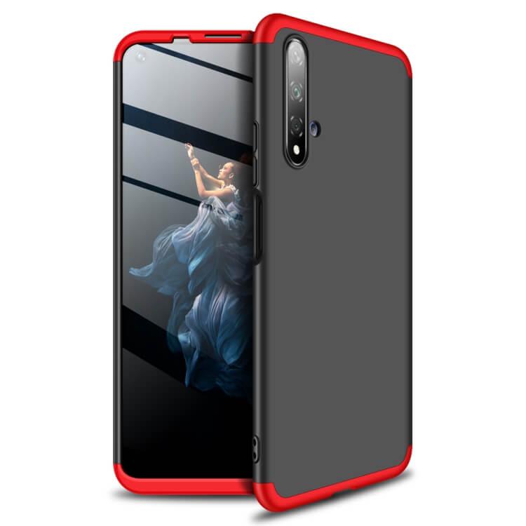 FORCELL 360 ° Ochranný obal Huawei Honor 20 / Huawei Nova 5T černý-červený