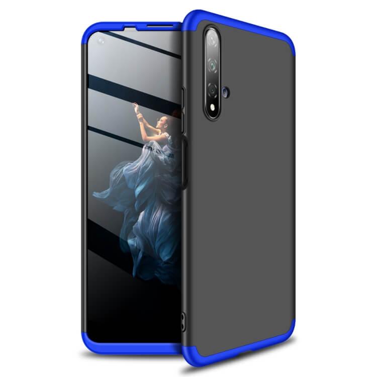 FORCELL 360 ° Ochranný obal Huawei Honor 20 Pro černý-modrý