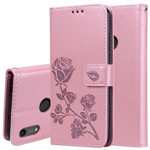 FORCELL ART Peňaženkový obal Honor 8A FLOWERS růžový