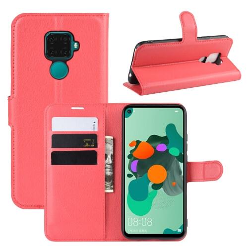 FORCELL LITCHI Peňaženkové puzdro Huawei Mate 30 Lite červené