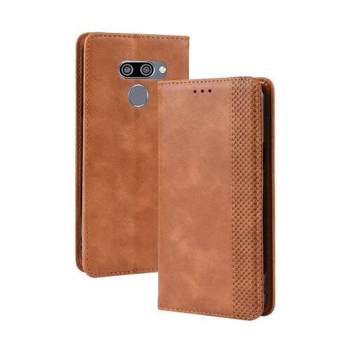 FORCELL BUSINESS Peňaženkový obal LG Q60 / LG K50 hnědý